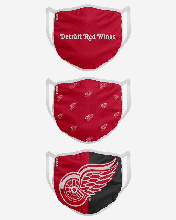 Detroit Red Wings Two Pack Face Cover with Team Logo