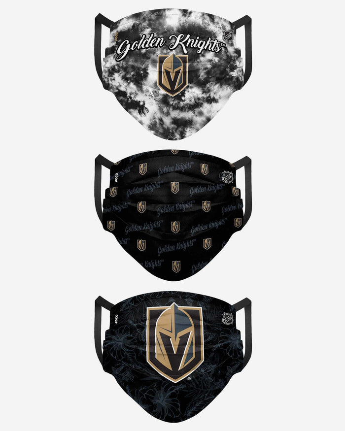 Vegas Golden Knights Womens Matchday 3 Pack Face Cover FOCO - FOCO.com