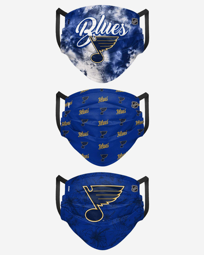 St Louis Blues Womens Matchday 3 Pack Face Cover FOCO - FOCO.com