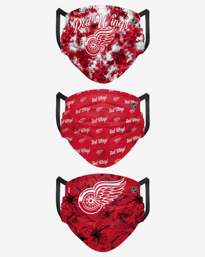 Detroit Red Wings Womens Matchday 3 Pack Face Cover FOCO - FOCO.com