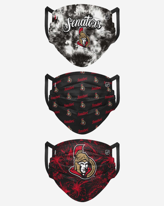 Ottawa Senators Womens Matchday 3 Pack Face Cover FOCO - FOCO.com