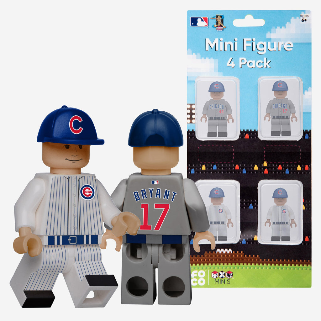 Kris Bryant and Anthony Rizzo Chicago Cubs 4 Pack BRXLZ Minifigure