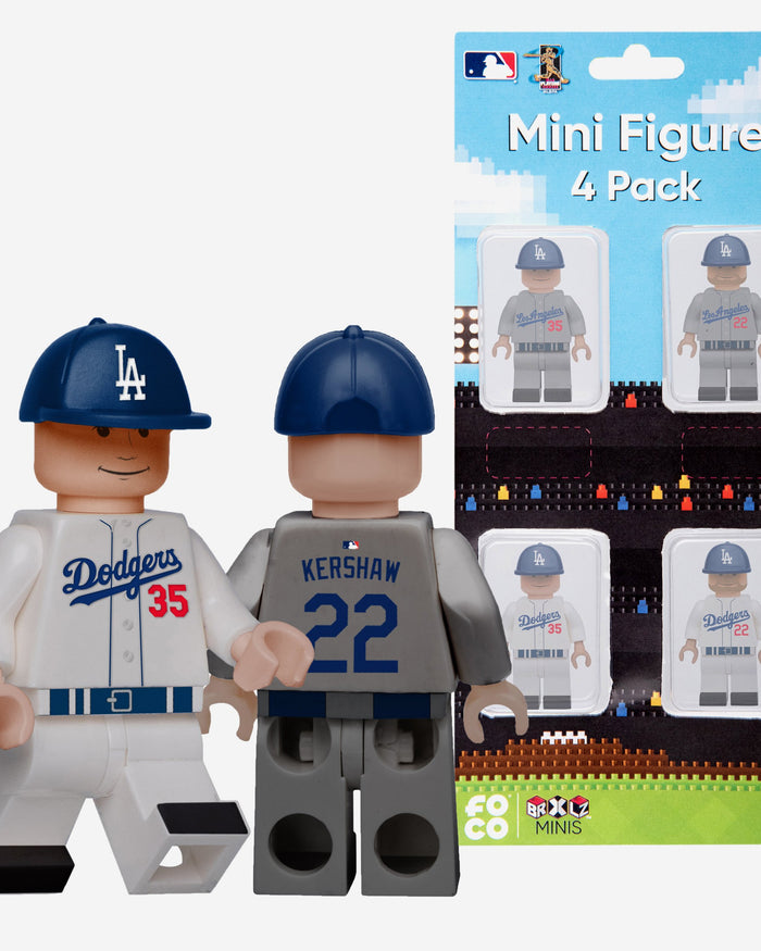 Cody Bellinger and Clayton Kershaw Los Angeles Dodgers 4 Pack BRXLZ Minifigure FOCO - FOCO.com