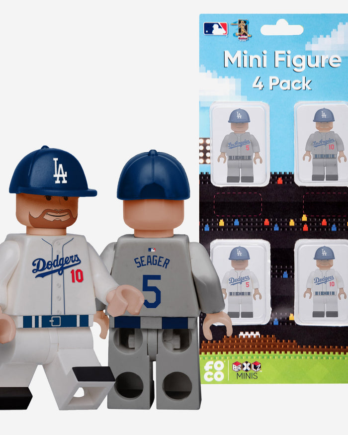 Justin Turner and Cory Seager Los Angeles Dodgers 4 Pack BRXLZ Minifigure FOCO - FOCO.com