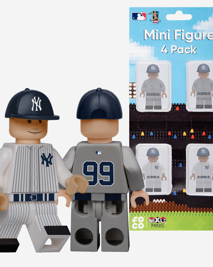Giancarlo Stanton and Aaron Judge New York Yankees 4 Pack BRXLZ Minifigure FOCO - FOCO.com