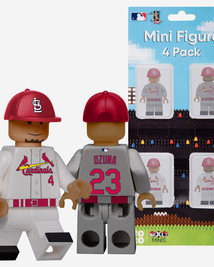Michael Osuna and Yadier Molina St Louis Cardinals 4 Pack BRXLZ Minifigure FOCO - FOCO.com