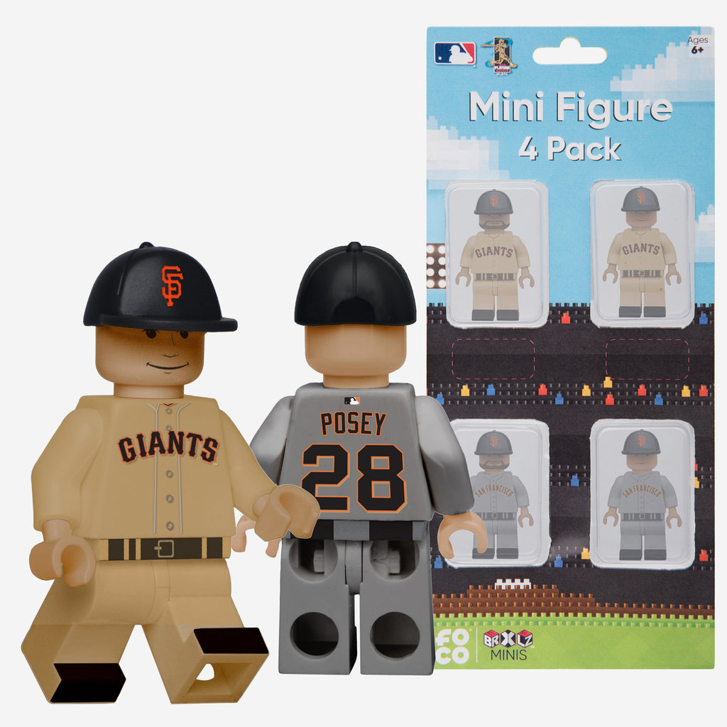 Madison Bumgarner and Buster Posey San Francisco Giants 4 Pack BRXLZ Minifigure FOCO - FOCO.com
