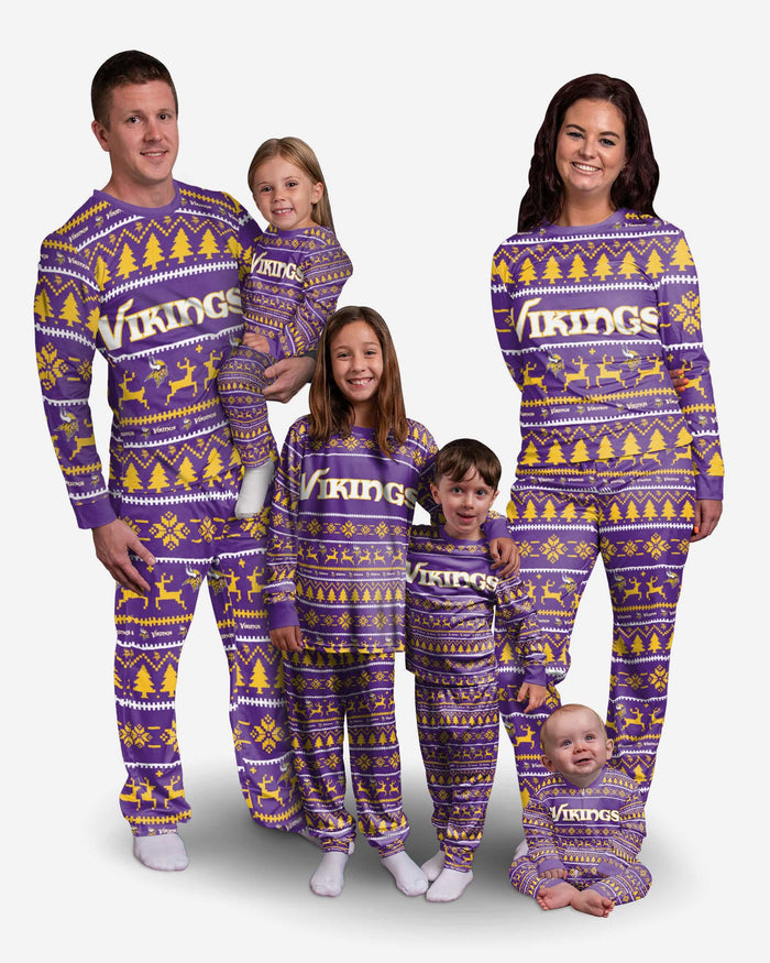 Minnesota Vikings Womens Family Holiday Pajamas FOCO - FOCO.com