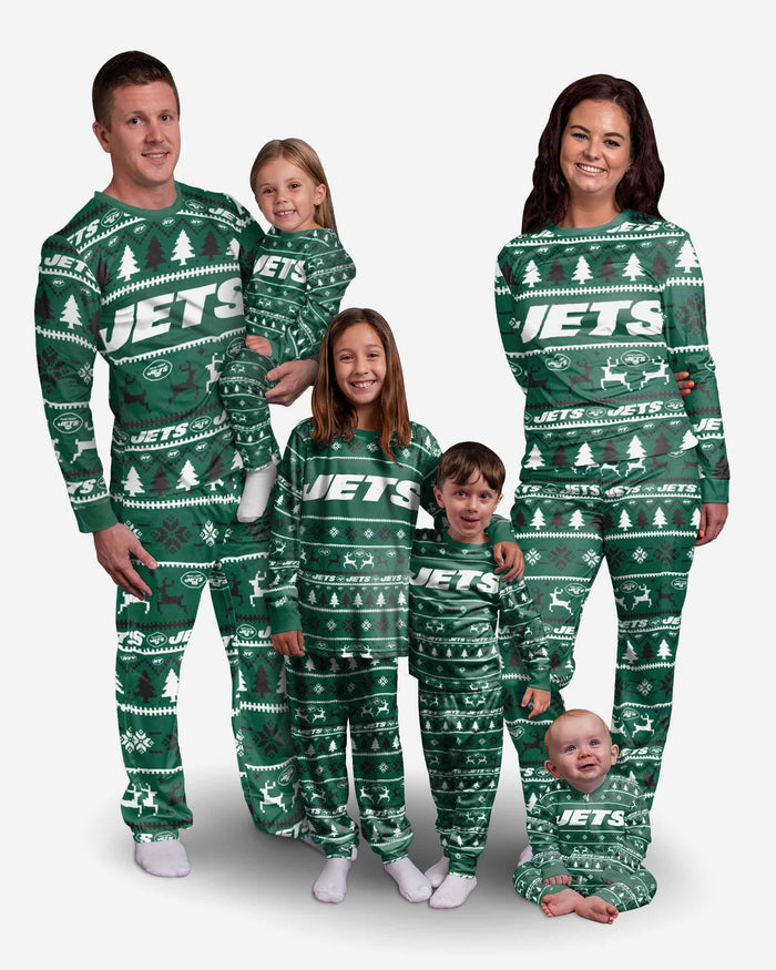 New York Jets Infant Family Holiday Pajamas FOCO - FOCO.com