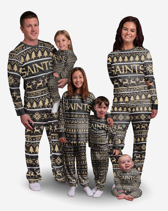 New Orleans Saints Womens Family Holiday Pajamas FOCO - FOCO.com