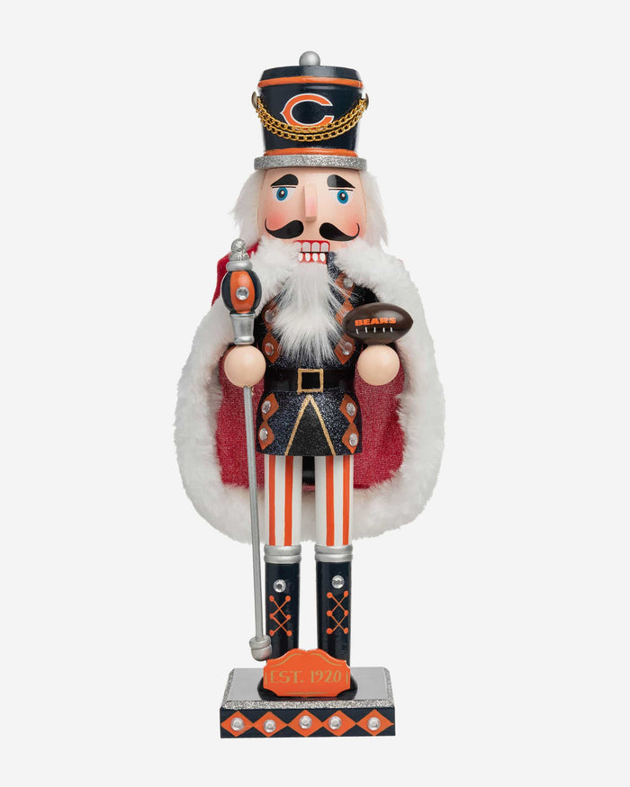 Chicago Bears Glitter Nutcracker FOCO - FOCO.com
