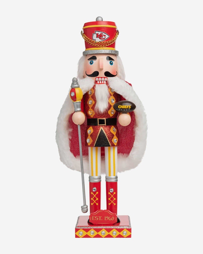 Kansas City Chiefs Glitter Nutcracker FOCO - FOCO.com
