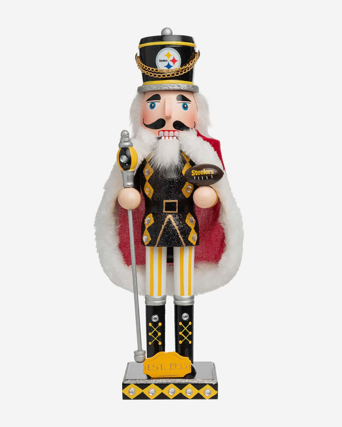 Pittsburgh Steelers Glitter Nutcracker FOCO - FOCO.com