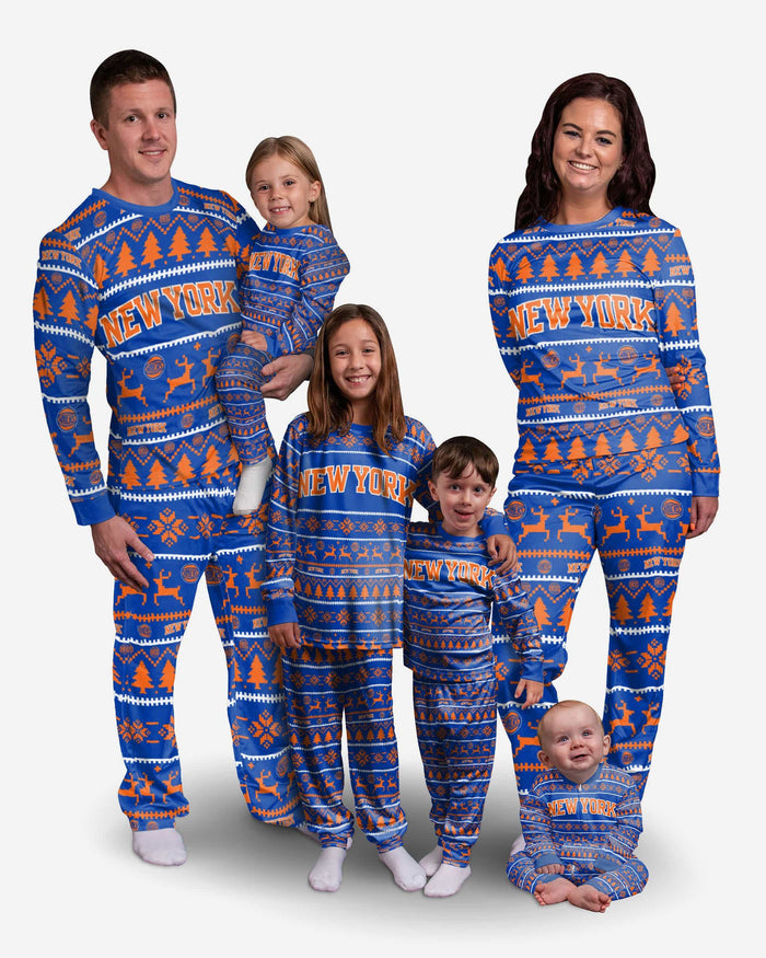 New York Knicks Family Holiday Pajamas FOCO - FOCO.com