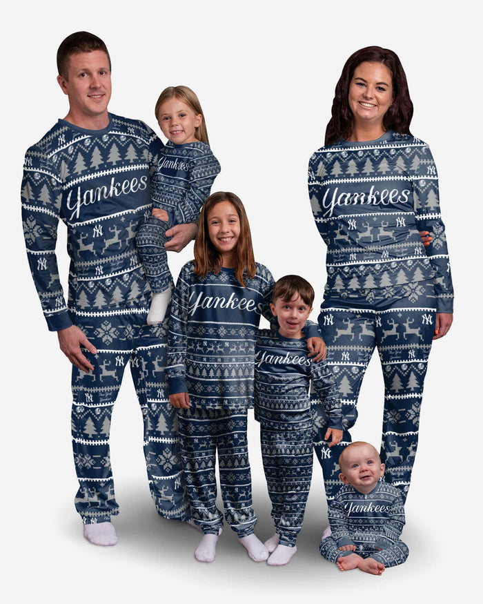 New York Yankees Infant Family Holiday Pajamas FOCO - FOCO.com