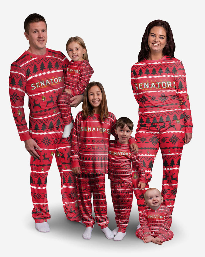 Ottawa Senators Womens Family Holiday Pajamas FOCO - FOCO.com