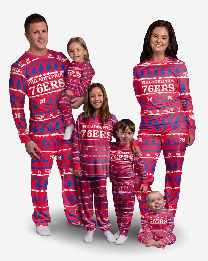 Philadelphia 76ers Toddler Family Holiday Pajamas FOCO - FOCO.com