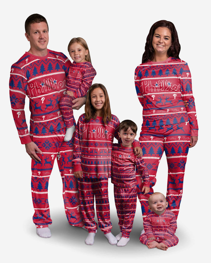 Philadelphia Phillies Toddler Family Holiday Pajamas FOCO - FOCO.com