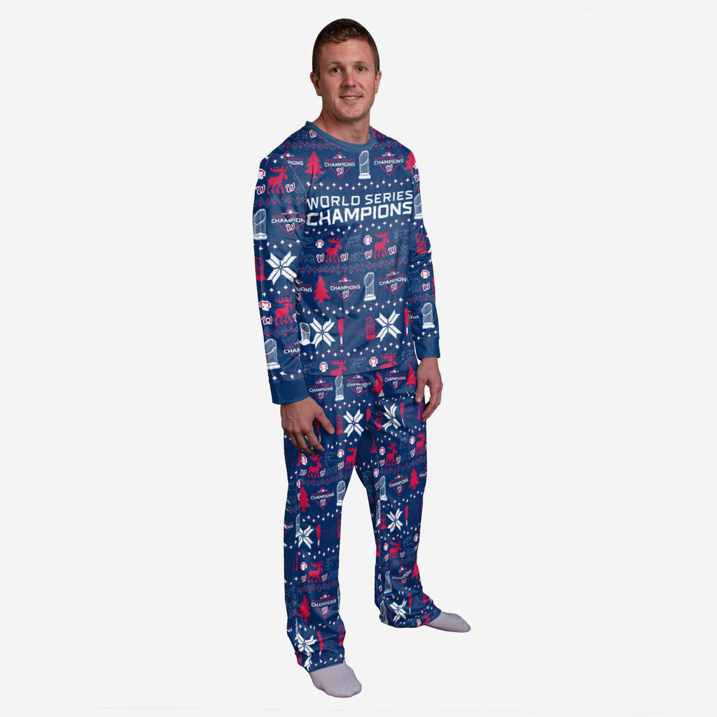 Washington Nationals 2019 World Series Champions Family Holiday Pajamas FOCO S - FOCO.com