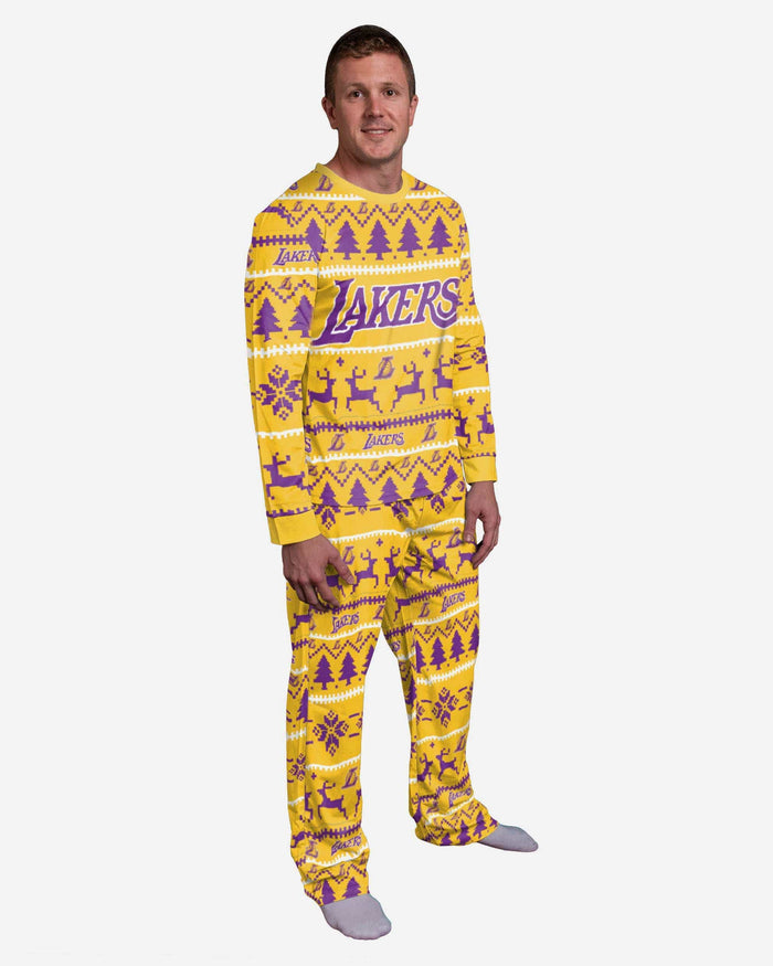 Los Angeles Lakers Family Holiday Pajamas FOCO S - FOCO.com