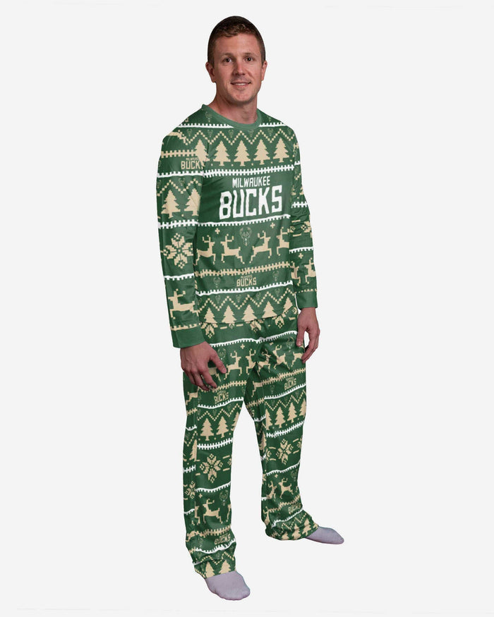 Milwaukee Bucks Family Holiday Pajamas FOCO S - FOCO.com