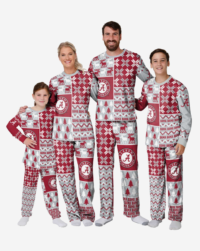 Alabama Crimson Tide Womens Busy Block Family Holiday Pajamas FOCO - FOCO.com
