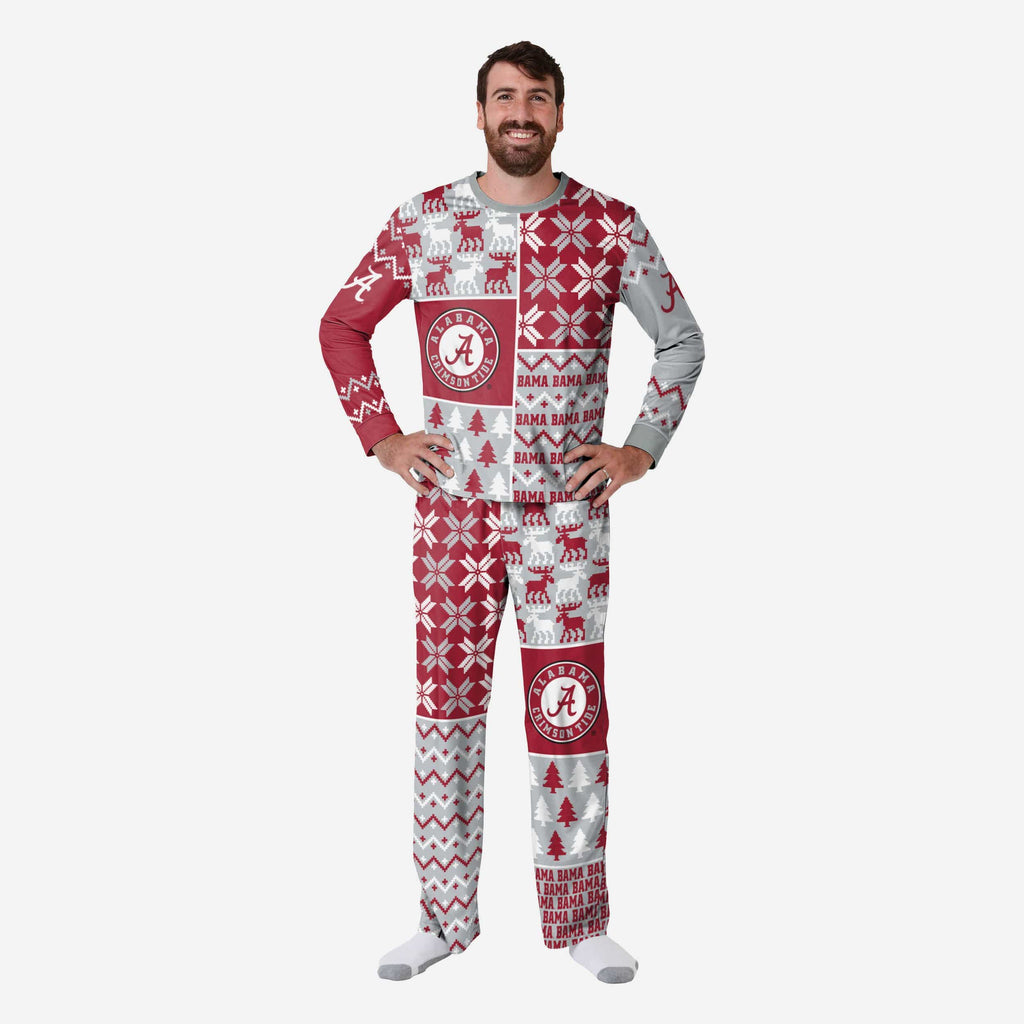 Alabama Crimson Tide Mens Busy Block Family Holiday Pajamas FOCO S - FOCO.com