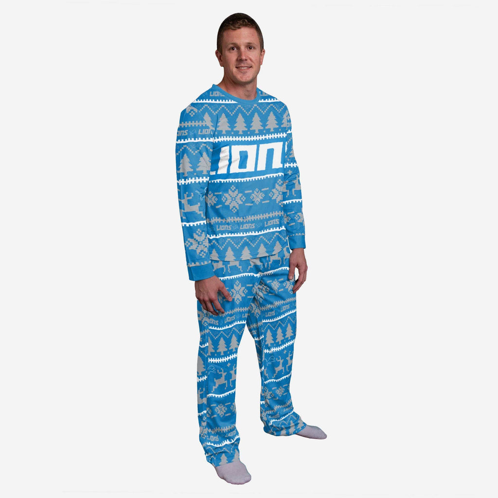 Detroit Lions Family Holiday Pajamas FOCO S - FOCO.com