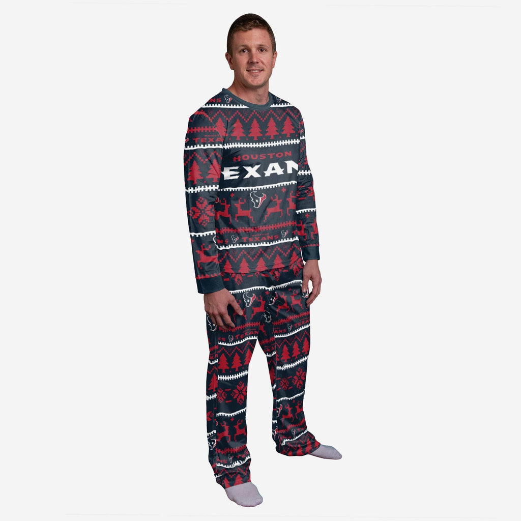 Houston Texans Family Holiday Pajamas FOCO S - FOCO.com