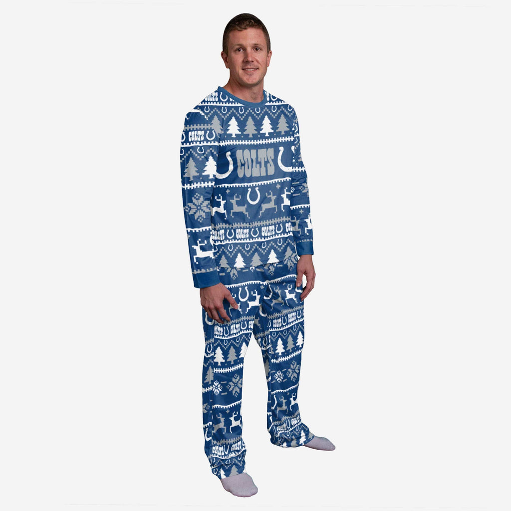 Indianapolis Colts Family Holiday Pajamas FOCO S - FOCO.com
