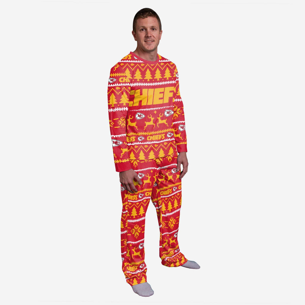 Kansas City Chiefs Family Holiday Pajamas FOCO S - FOCO.com