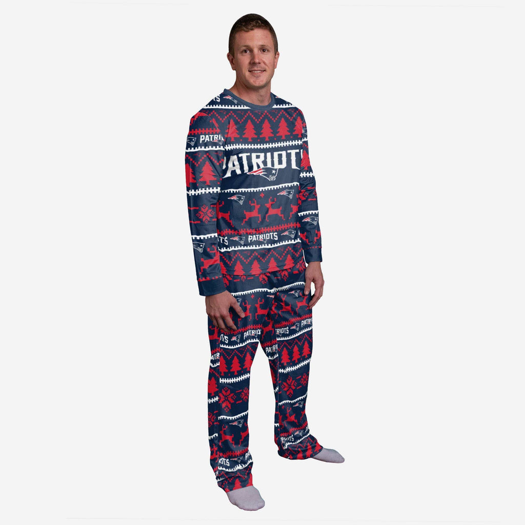 New England Patriots Family Holiday Pajamas FOCO S - FOCO.com