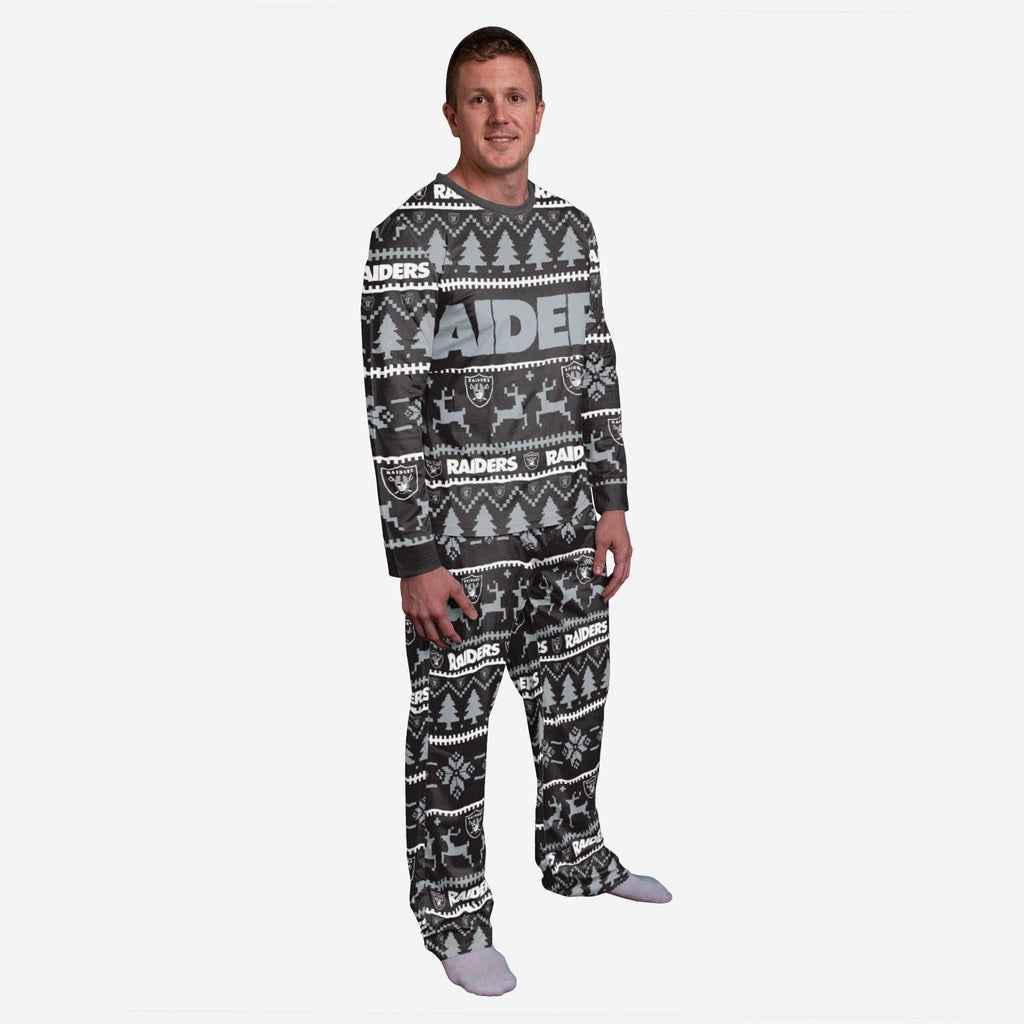 Oakland Raiders Family Holiday Pajamas FOCO S - FOCO.com