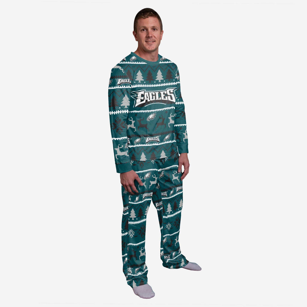 Philadelphia Eagles Mens Family Holiday Pajamas FOCO S - FOCO.com