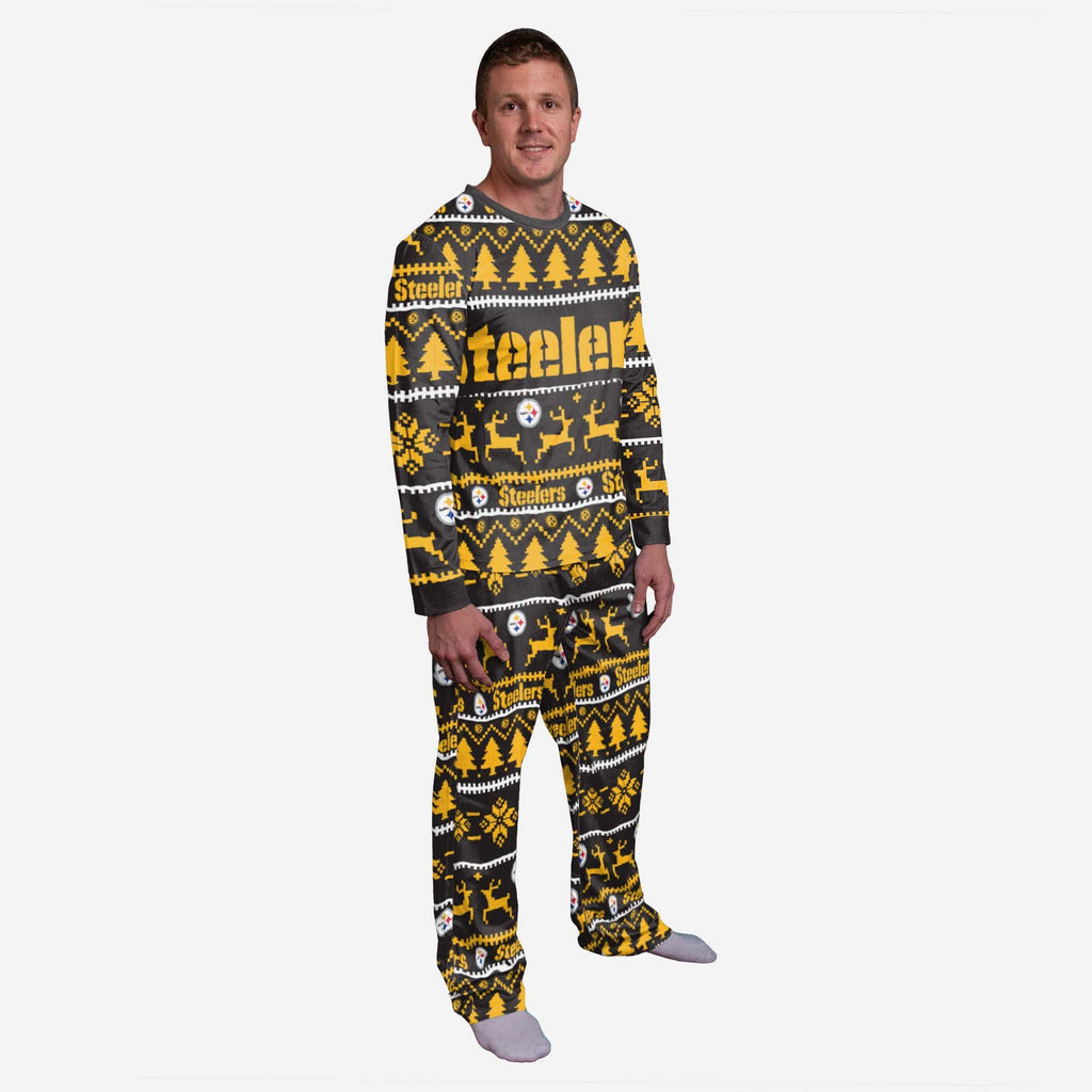 Pittsburgh Steelers Family Holiday Pajamas FOCO S - FOCO.com