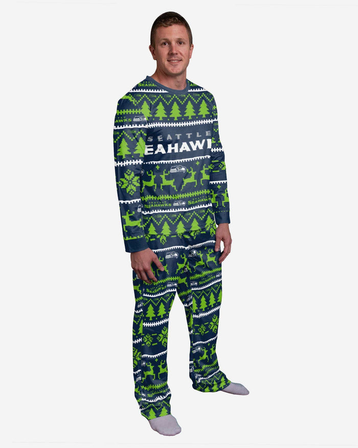 Seattle Seahawks Family Holiday Pajamas FOCO S - FOCO.com