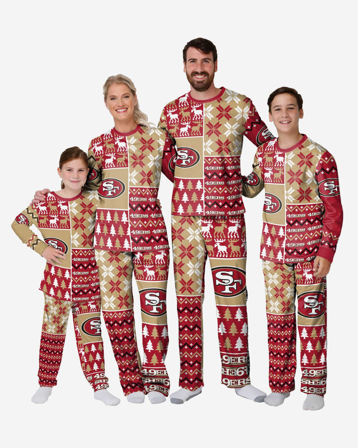 San Francisco 49ers Mens Busy Block Family Holiday Pajamas FOCO - FOCO.com