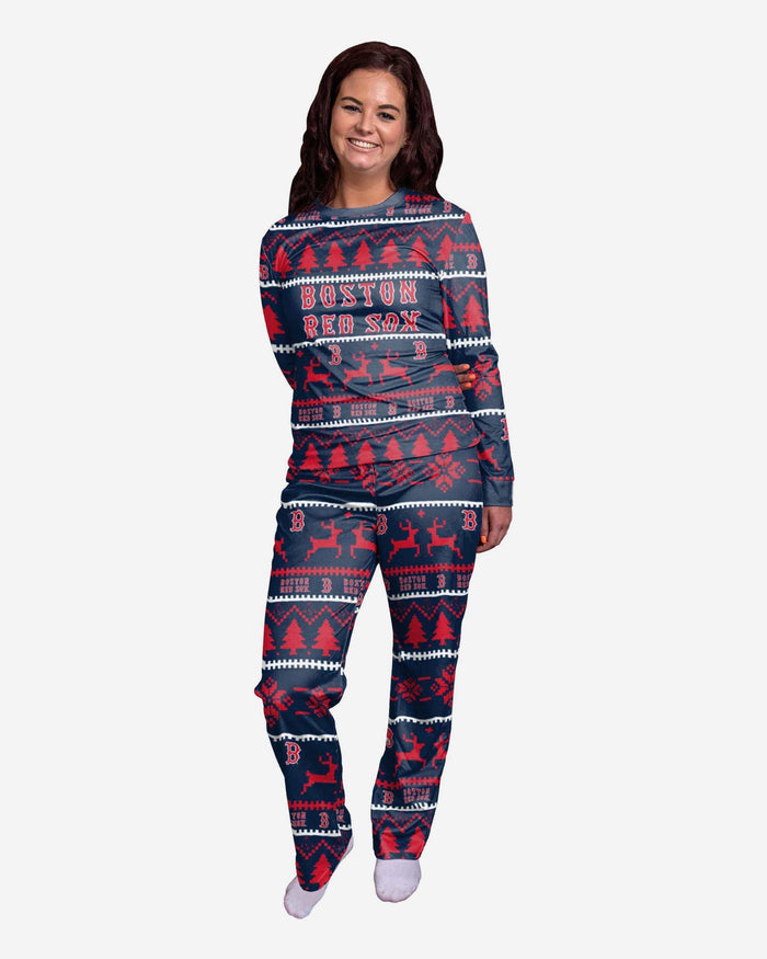 Boston Red Sox Womens Family Holiday Pajamas FOCO S - FOCO.com