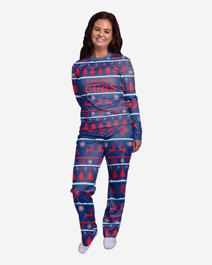 Chicago Cubs Womens Family Holiday Pajamas FOCO S - FOCO.com
