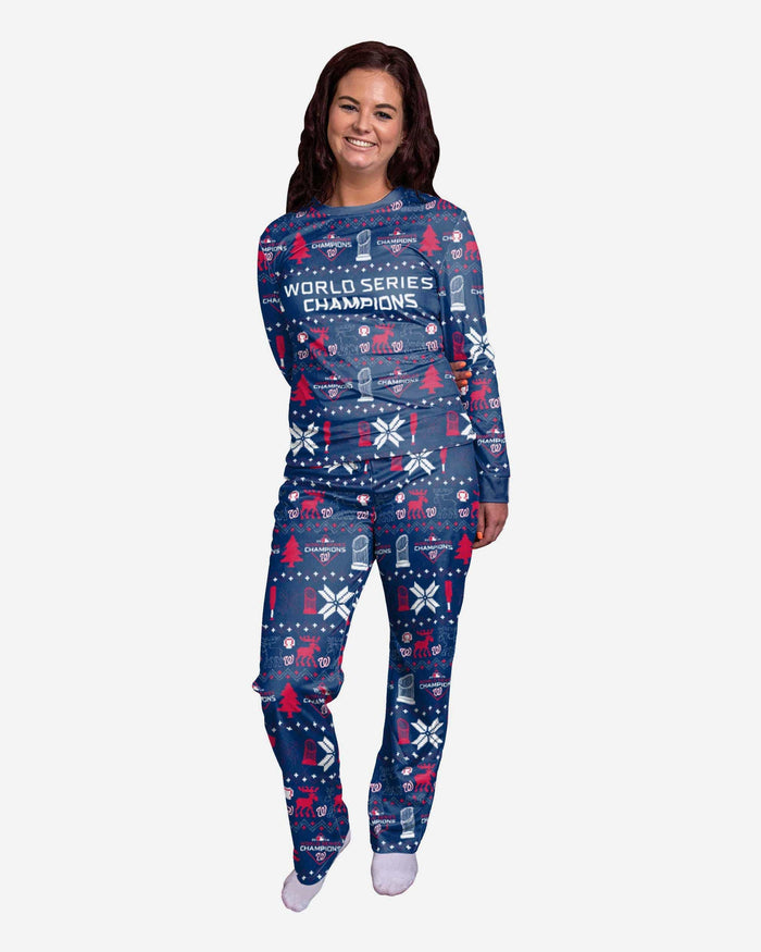 Washington Nationals 2019 World Series Champions Womens Family Holiday Pajamas FOCO S - FOCO.com