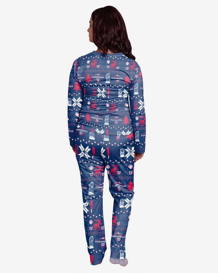 Washington Nationals 2019 World Series Champions Womens Family Holiday Pajamas FOCO - FOCO.com