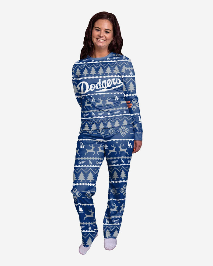 Los Angeles Dodgers Womens Family Holiday Pajamas FOCO S - FOCO.com