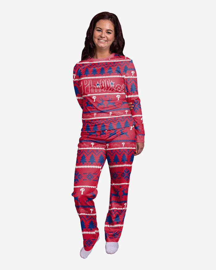 Philadelphia Phillies Womens Family Holiday Pajamas FOCO S - FOCO.com