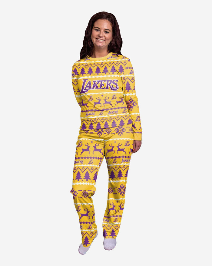Los Angeles Lakers Womens Family Holiday Pajamas FOCO S - FOCO.com