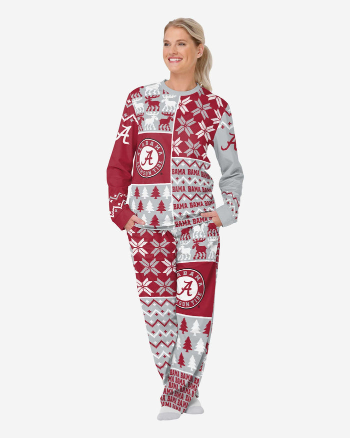 Alabama Crimson Tide Womens Busy Block Family Holiday Pajamas FOCO S - FOCO.com