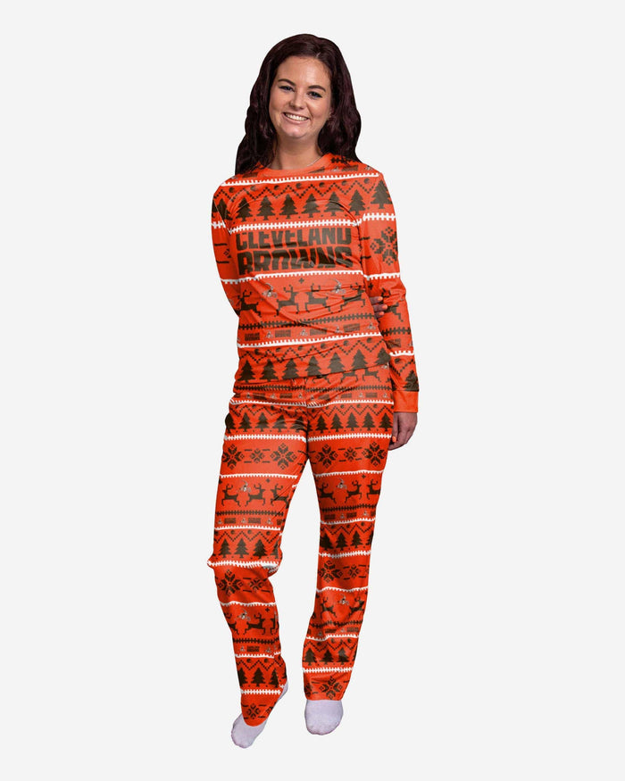 Cleveland Browns Womens Family Holiday Pajamas FOCO S - FOCO.com