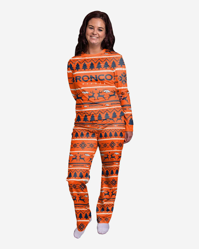 Denver Broncos Womens Family Holiday Pajamas FOCO S - FOCO.com