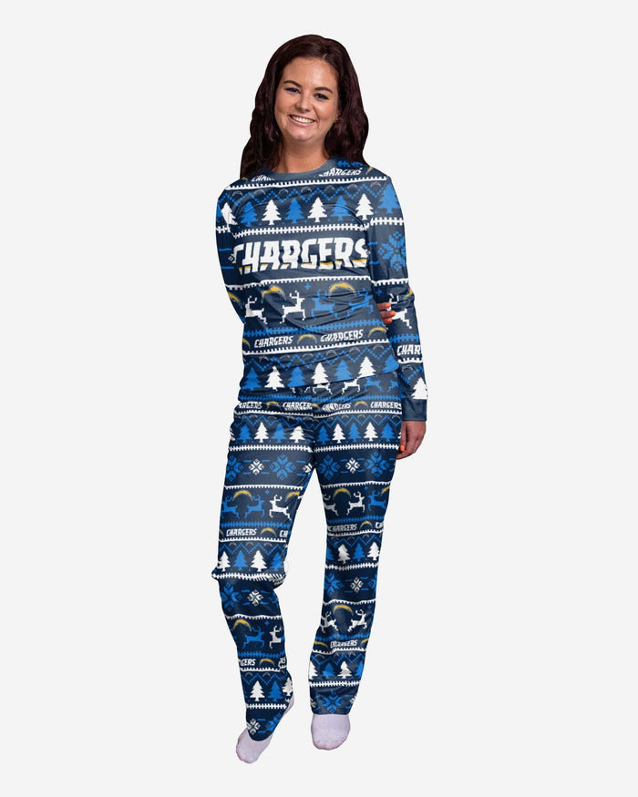 Los Angeles Chargers Womens Family Holiday Pajamas FOCO S - FOCO.com