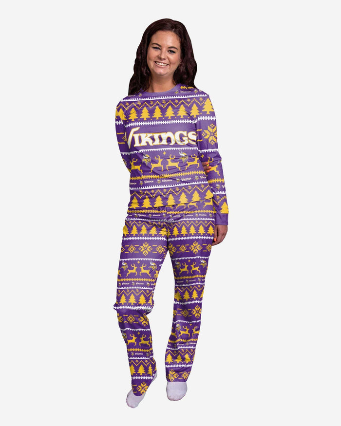 Minnesota Vikings Womens Family Holiday Pajamas FOCO S - FOCO.com