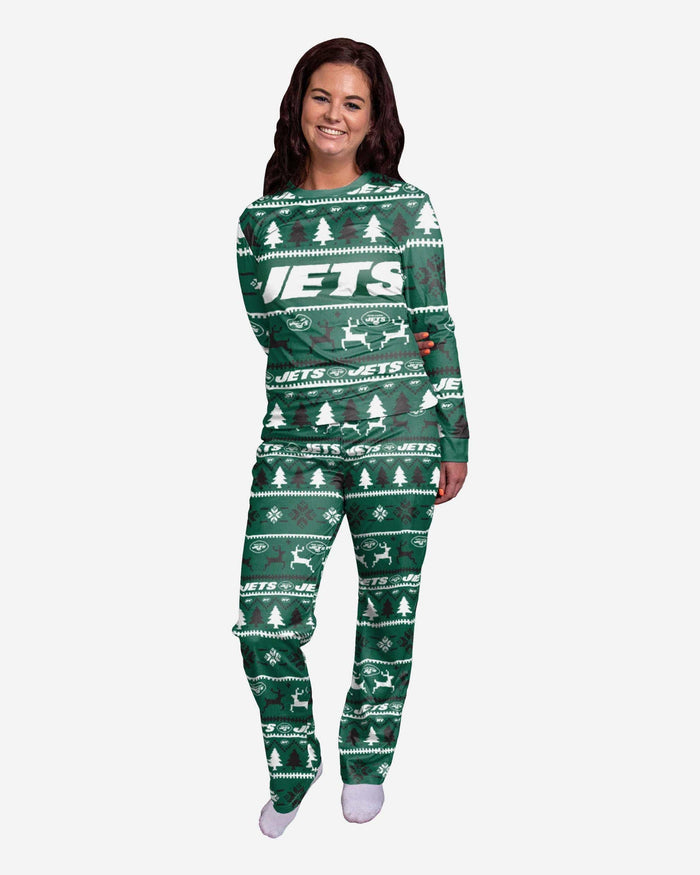 New York Jets Womens Family Holiday Pajamas FOCO S - FOCO.com